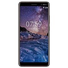 7 Plus 6-Inch IPS LCD (4GB, 64GB ROM) Android 8.0 Oreo, Dual (12MP + 13MP) + 16MP Dual SIM 4G Smartphone - Black Copper