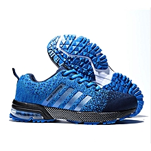 Men Light-Weight Running Sneakers - Blue Black