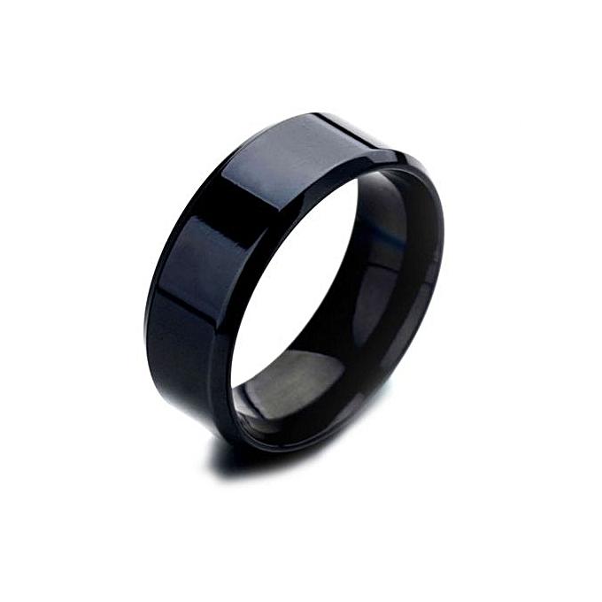 Black Gold Mens Wedding Rings | Buy Fashion Titanium Ring Men Wedding Ring Simple Silver Black Gold