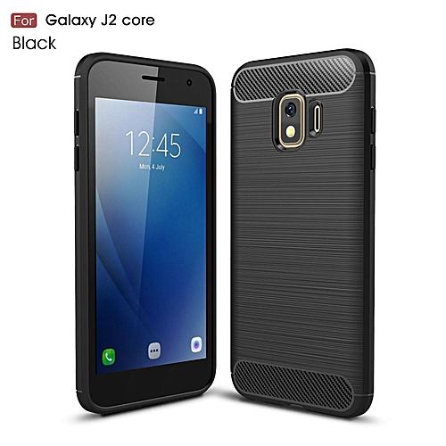 san francisco 1d9ab 78348 For Galaxy J2 Core Case,Flexible TPU Bumper Slim Fit Case Carbon Fiber  Design Lightweight Shockproof Back Cover For Samsung Galaxy J2 Core/SM-J260G