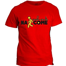 Nacome Red  Printed T-Shirt Design