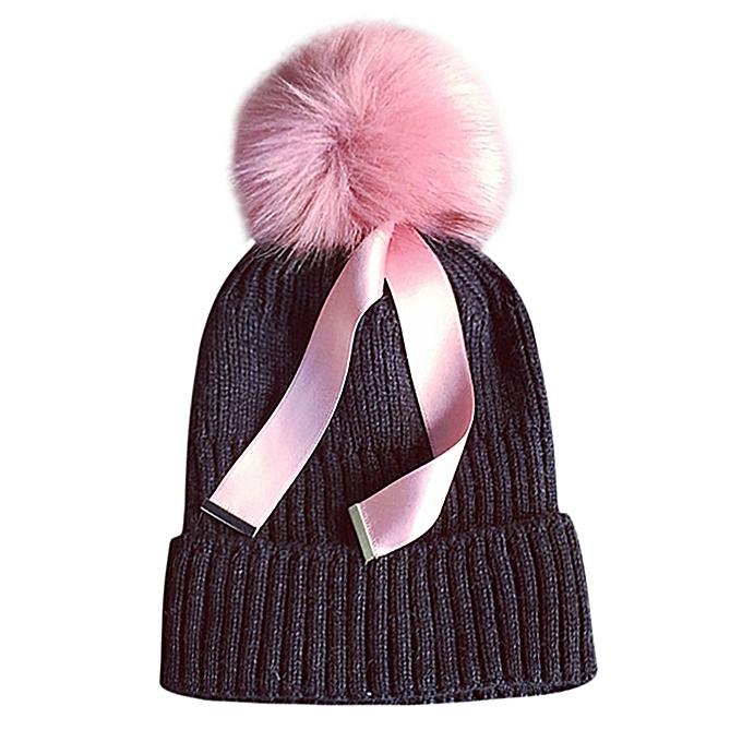 be4454d0c03 ... singedanWomen Winter Keep Warm Crochet Ski Hat Braided Cap -Dark Gray