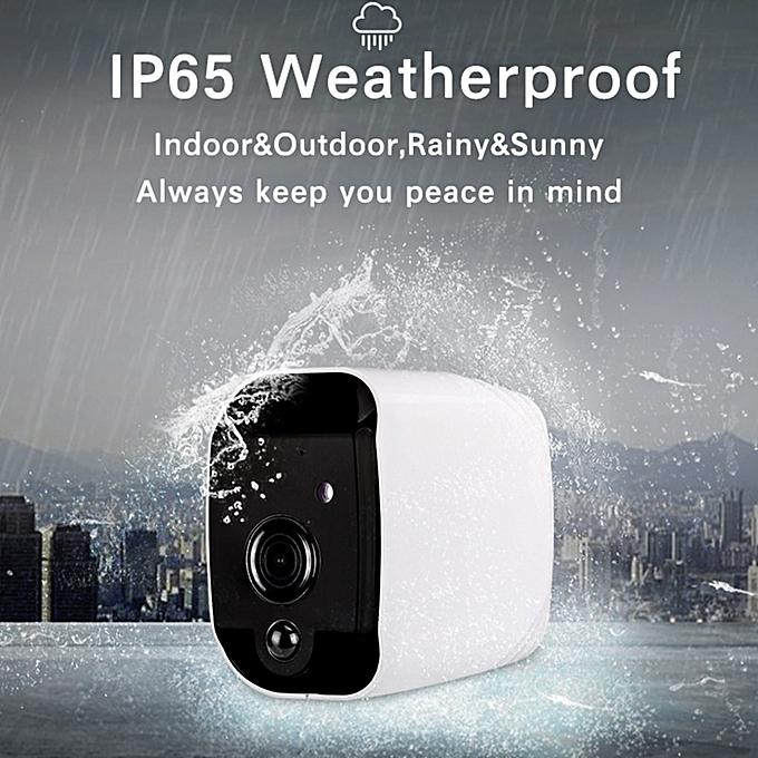 100% Wire-Free Tuya WiFi Battery Powered 960P IP65 Outdoor Indoor Security  PIR Camera Two Way Audio(Camera with Battery)