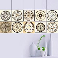 20pcs/1set Simulated Creative Tile Sticker Home Diy Refurbishment Waterproof Floor Sticker