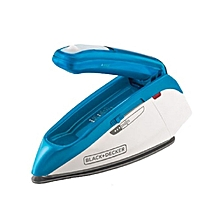 1085 Watt Dual Voltage Travel Iron Blue & White