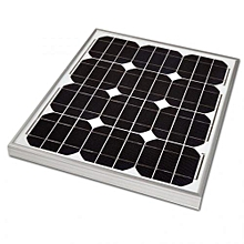 Panel -  60W - 12volts - Black & Aluminium
