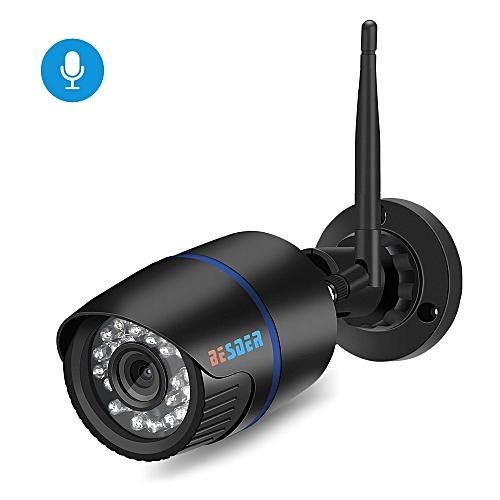 BESDER Audio 1080P 720P Wireless IP Camera Microphone IR Wifi Surveillance  Outdoor Waterproof CCTV Security IP Camera P2P CamHi(1080P NO Adapter)(8mm)