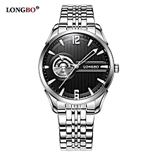 5010 Brand Man Fashion Brand Military Watch Stainless Steel Date Calendar High Quality Waterproof Wristwatches Mens Watches - Black