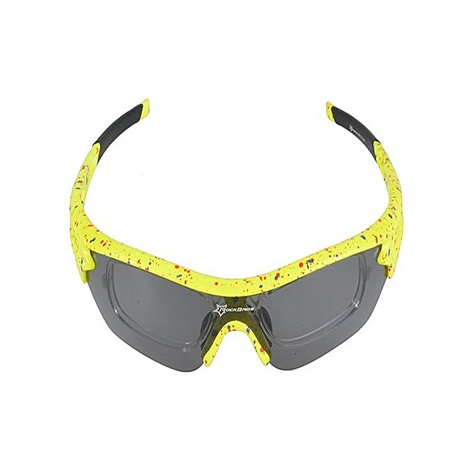 58a898fd99 RockBros Polarized Cycling Glasses Three Interchangeable Lens New (Color c20 )