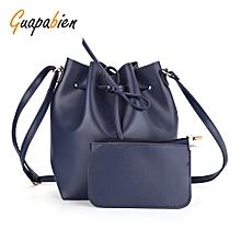 Guapabien Drawstring Shoulder Bucket Bag Clutch Pocket