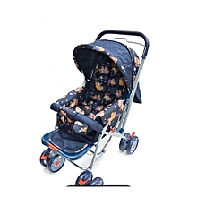 Baby Stroller/ Foldable Pram Portable Baby Stroller With Universal Casters- multicolour