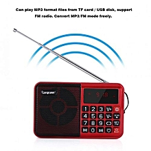 Sweatbuy Portable Audio Music Player FM Radio Speaker LED Display Support TF Card USB Disk