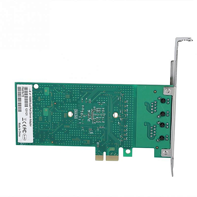 For INTEL 82576-T2 Gigabit PCI-e Dual Port Network Adapter Card Desktop  1000Mbps Server NIC LED 2019( )