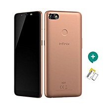 "HOT 6  - 6"" - 16GB - 1GB - 13+8MP Dual Camera -  Blush Gold + FREE Protective Film"