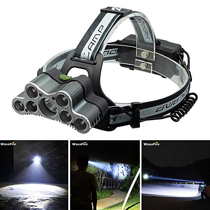 Head 7 T6 Frontal Torch Warning Headlamp Usb Light Led Bil Lumens Xml 20000 Rechargeable Lamp HeadlightCable High Power MUzVpqS