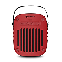 NewRixing NR - 4014 Portable Wireless Bluetooth Stereo Speaker Mini Player-RED