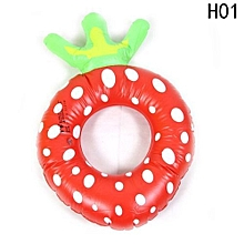 Hequeen Cute Kids Swimming Laps Strawberry Pineapple Swim Ring Summer Water Toy Inflatable Floats Pool For Kids