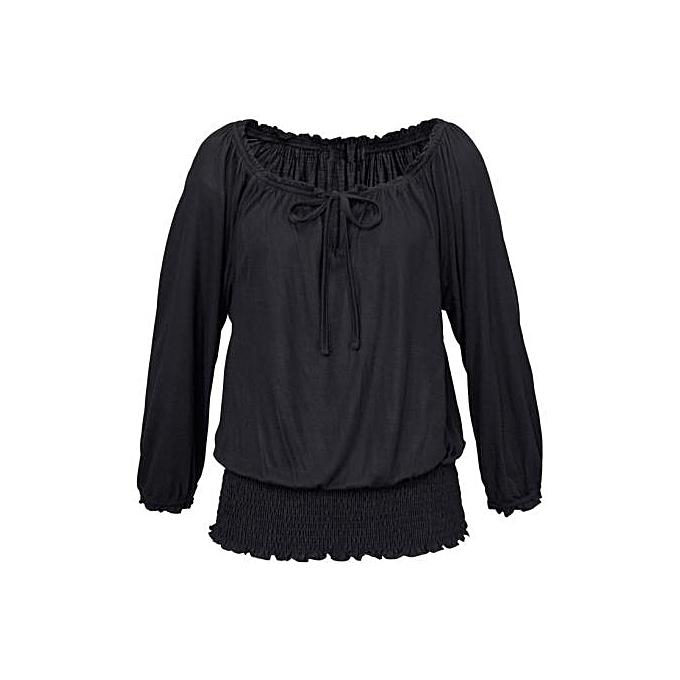5a99e7ac898 Fashion Women Off Shoulder Long Sleeve Blouse Casual T Shirt Tops BK ...