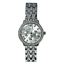 Classic Luxury Stainless Steel Analog Wrist Watch -Silver