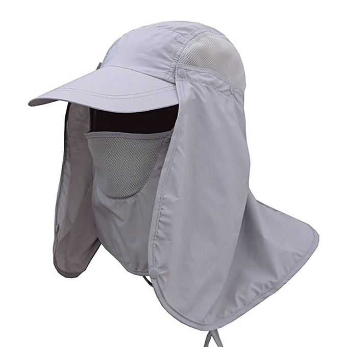 Hiking Fishing Hat Outdoor Sport Sun Protection Neck Face Flap Cap Wide Brim fdc86ba55b3