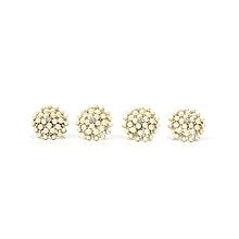 Pearl and Diamond Napkin Rings (4 Piece Set)
