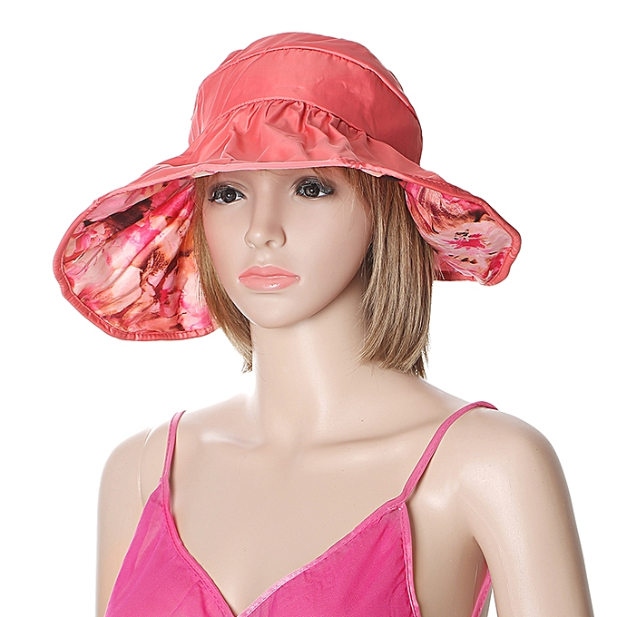 a1d6b37b6 Women Summer Sun Protective Foldable Hat Anti-UV Wide Brim Outdoor  Gardening Visor Cap