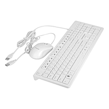 CS-4200 Wired Home Office Use Keyboard Mouse Set For PC Laptop Desktop-white