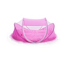Happy Baby Portable Baby Cot Mosquito Net - Colour Pink
