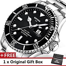 KINYUED Top Brand Mechanical Watch Luxury Men Business Watchs Stainless Steel Band 3ATM Waterproof Calendar Function Mens Famous Male Watches Clock For Men Wrist Watch JYD-J027G BDZ