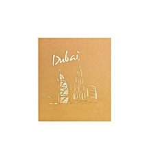 Greeting Card 3DGreeting Dubai Sailboat City Building Postcard Gift golden