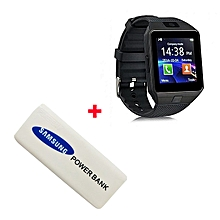 DZ09 Smart Watch Phone for Android and Apple With Free Power Bank 5600mAh -  Black