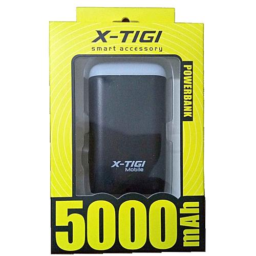 M2 Portable Power Bank 5000mAh with LED Light - Black