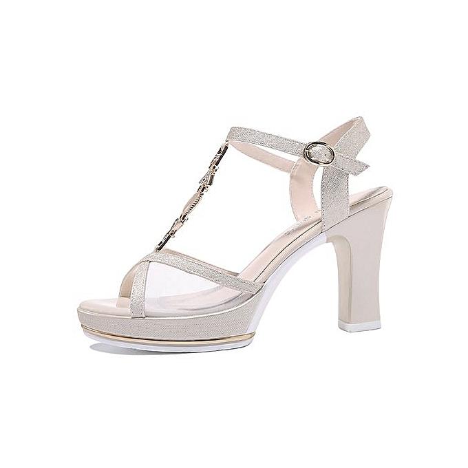 a4f626ac843 ... Fashion Women Platform Sandals Metal T Strap Crystal Flowers Pink White  Wedge Sandals Wedding Shoes 0108