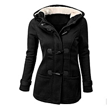 89106ce1bae Ladies Womens Duffle Style Trench Hooded Pocket Toggle Coat Jacket Size  4-20 Spu3763382 -