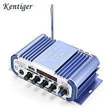 HY - 604 HiFi 4-channel Stereo Car Audio Remote Control Amplifier - BLUE