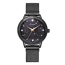 New Classic Round Dial Ladies Luxury Watch K6320M - Black