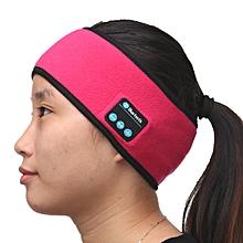 141983482579 Bluetooth Stereo Headphone Sports Headset Wireless Headband w/Mic for iPhone 7 -rose red