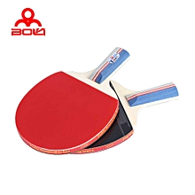 Table Tennis Ping Pong Racket Set Two Paddles Bats Three Balls Shake-hand Grip - Colormix