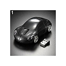 Racing Car Shaped 2.4GHZ Wireless Optical Mouse/Mice USB 2.0 For PC Laptop-Black