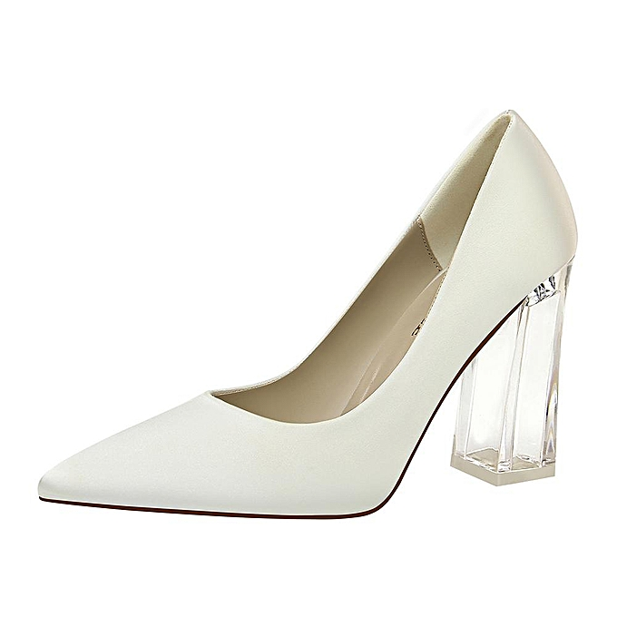 4dc3a62e Fashion High Heels Square Heel Wedding Shoes Woman Pumps Pointed Toe Party  Women Shoes High-