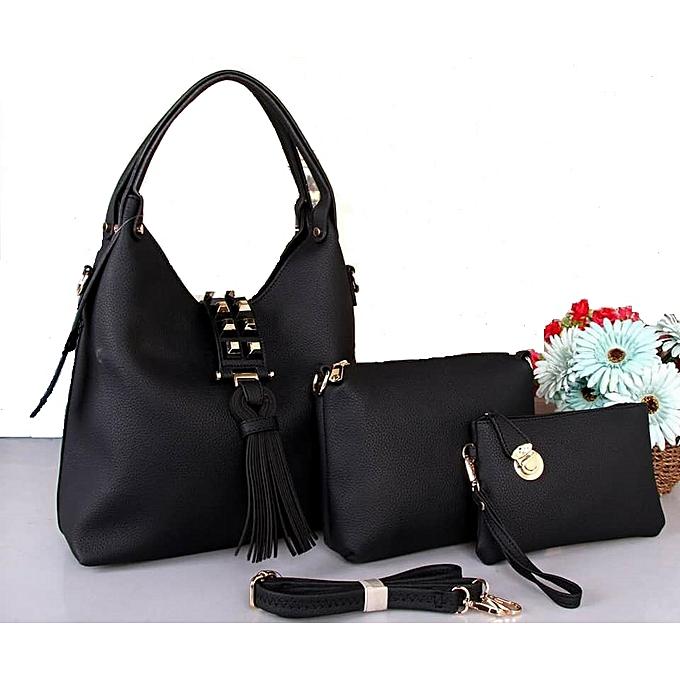 Black 3n1 Classy Las Handbags