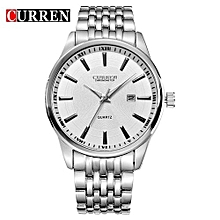 Watches, 8052 CURREN Men Luxury Brand Business Casual Watch Quartz Watches - Silver