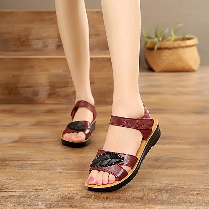 Comfort Price Wedges Shoes Sandals Most Best Big Size Leather Rating Women Alex Fashion Popular Summer Lowest Ladies 4R35LqAj