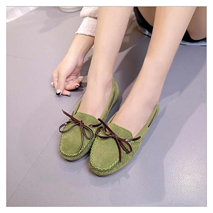 e6bc37b37f0 Nazuworld Women Shoe-Flat Doll Shoes-Top Quality-Green   Best Price ...