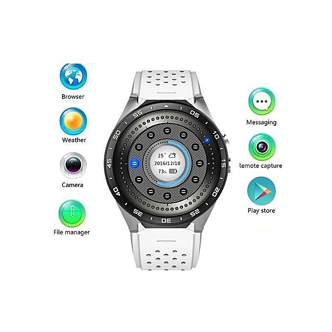 203d79a6a Smartwatch KW88 3G Smart watch, Android 5.1 OS, Quad Core support 2.0MP Camera  Bluetooth SIM Card WiFi GPS Heart Rate Monitor