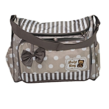 1 Piece Medium Size Multi functional Diaper Bag - Grey & White .