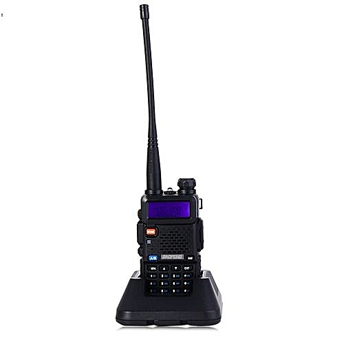 BAOFENG UV-5R UHF / VHF Walkie Talkie 128-Channel With Flashlight_BLACK