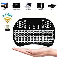 Smart TV Wireless Keyboard with Mouse Touchpad Rechargeable Combos - Black