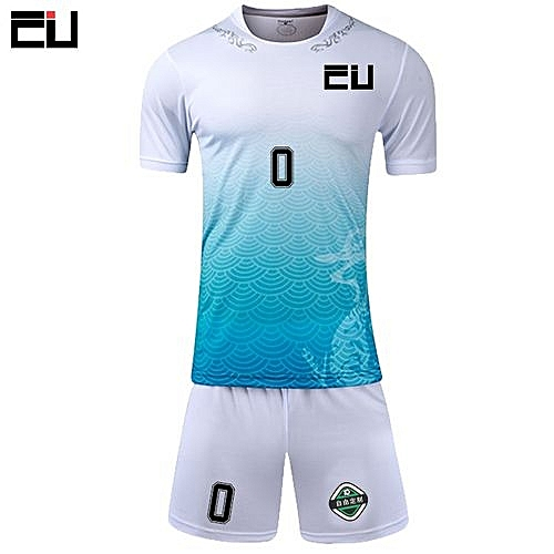6df7c81c607 Longo New Customized Children Boy And Men's Football Soccer Team Sport  Jersey Set-White(LT-1701)