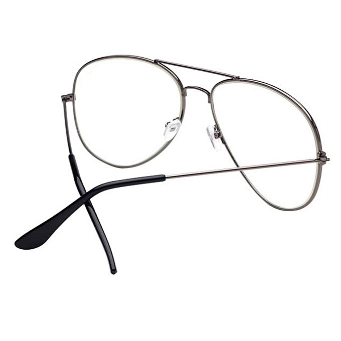 Men Women Clear Lens Glasses Metal Spectacle Frame Myopia Eyeglasses  Lunette Fe 5f290bad6f31